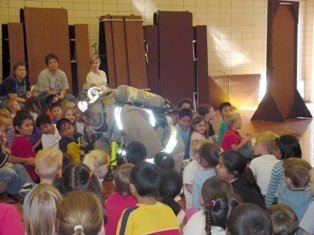 Firefighter at Childrens Assembly