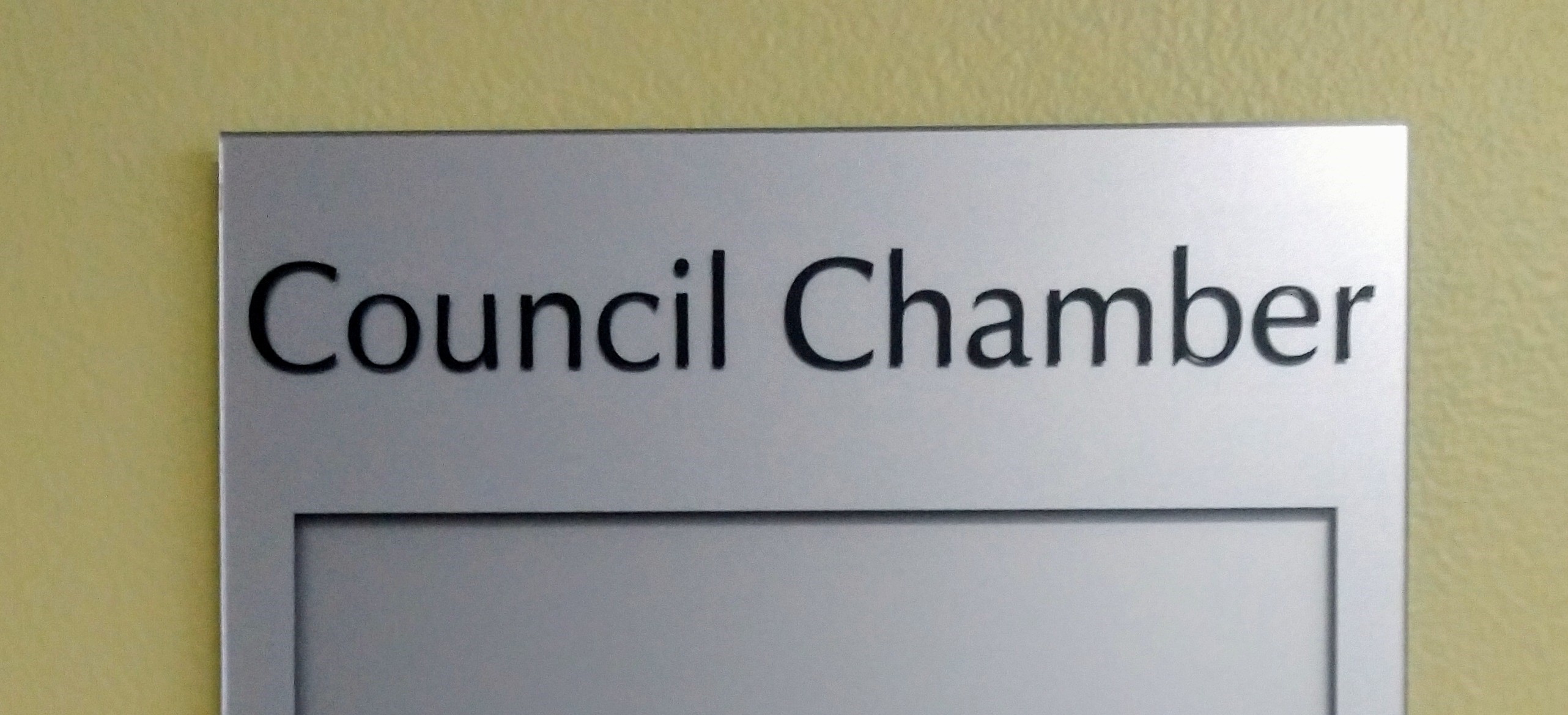 Council Chamber Sign