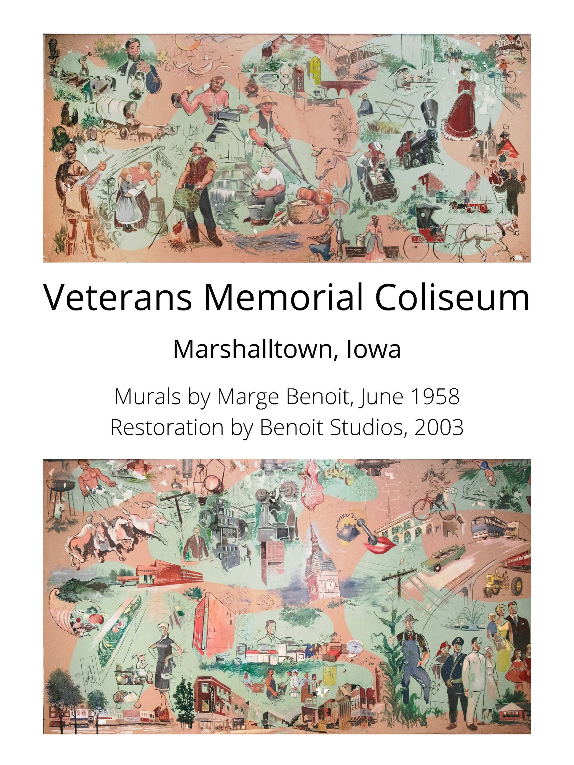 Veterans Memorial Coliseum Murals