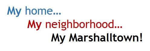 My Home My Neighborhood My Marshalltown logo
