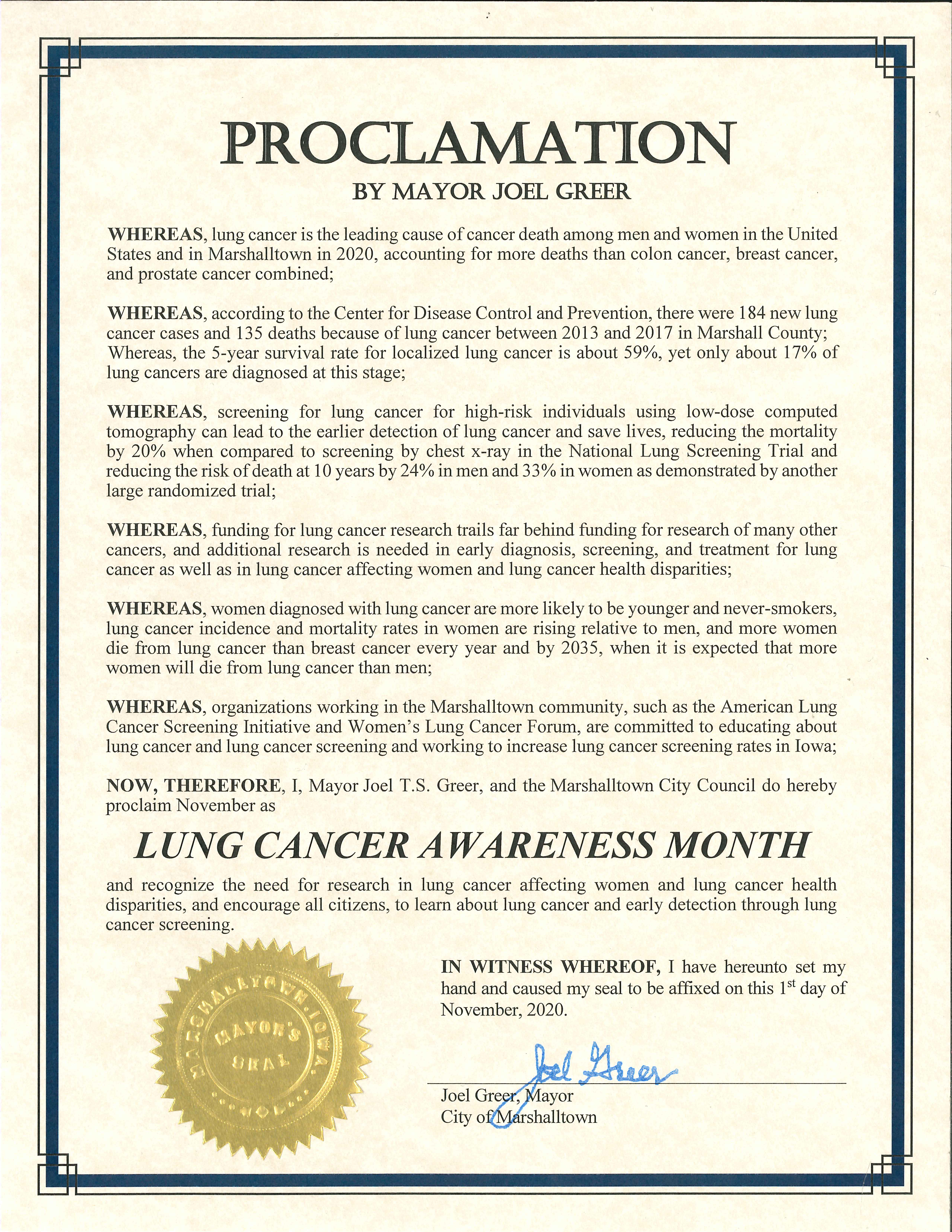 2020-11-01 Lung Cancer Awareness Month