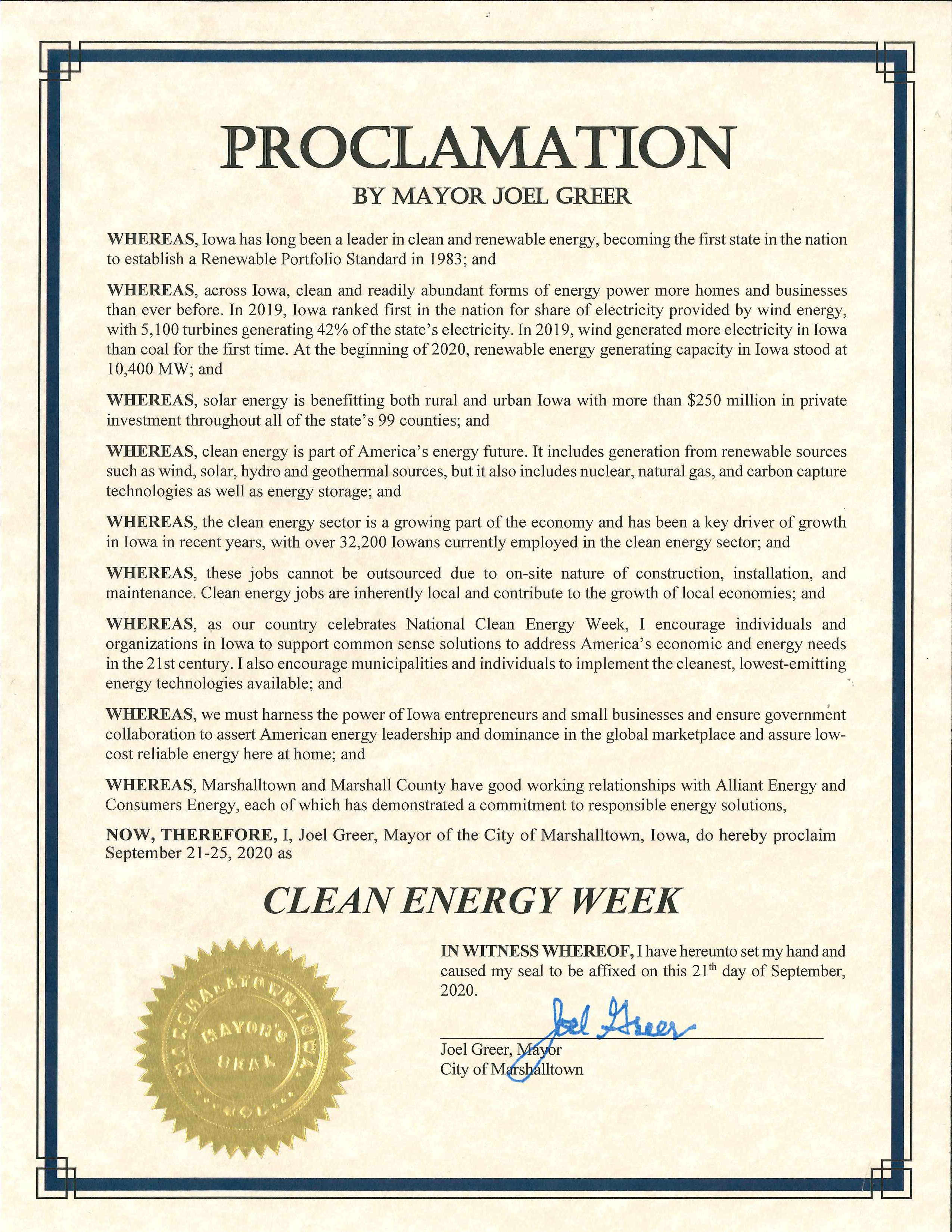 2020-09-21 Clean Energy Week